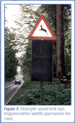 Figure 9. Fiberoptic speed limit sign,