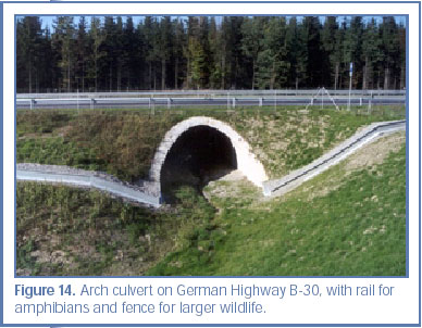 Figure 14. Arch culvert on German Highway B-30, with rail for